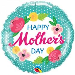 "Ballon aluminium fête des mère "" Happy MoM Day "" Marguerite 18"""