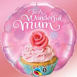 """Ballon aluminium fête des mère """" Happy Mother's Day """" Vintage 18"""""""