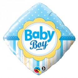"Ballon aluminium naissance ""Baby Girl"" losange18"""
