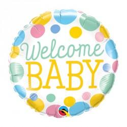 "Ballon aluminium naissance ""Baby Boy"" losange18"""