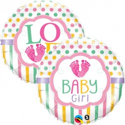 "Ballon aluminium naissance ""Baby Boy"" carreaux 18"""