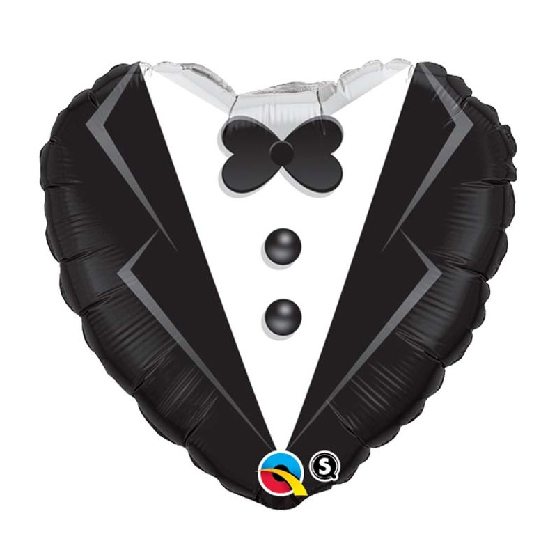 ballon aluminium mariage coeur buste costard de mari 18. Black Bedroom Furniture Sets. Home Design Ideas