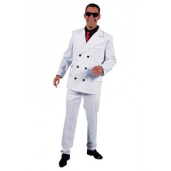 Location costume années 20' Borsalino blanc