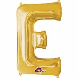 Ballon aluminium lettre E or 81cm