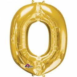 Ballon aluminium lettre O or 83cm