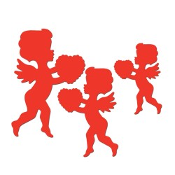 Cut out cupidon x6
