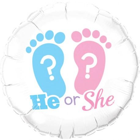 """Ballon aluminium naissance """"c'est une fille"""" 18"""""""