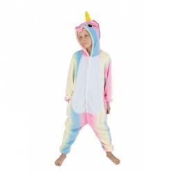 Costume Kigurumi Licorne rose enfant