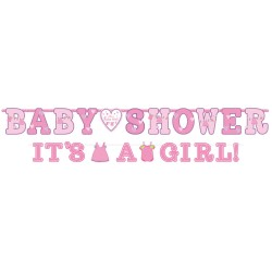Banderole Baby Shower fille x2