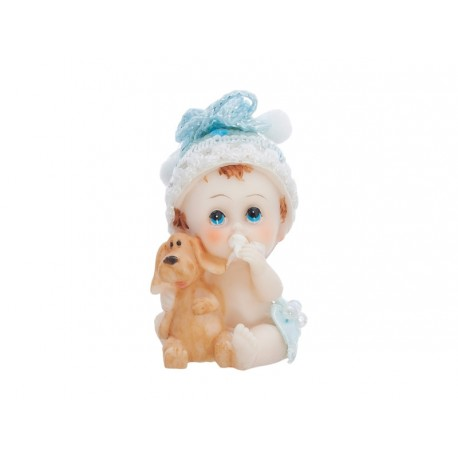 Figurine Bébé bleu + petit train