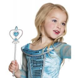 Baguette princesse coeur pierres bleues