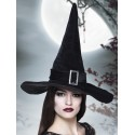 Chapeau sorcière noir velours adulte