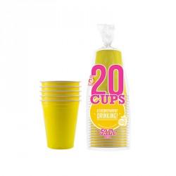 Gobelets Américain jaunes X20