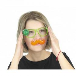 Lunettes St Patrick + moustache