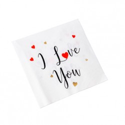 "Serviettes ""I Love You"" x16"