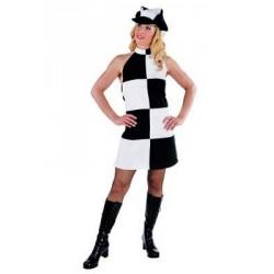 Location costume robe disco Mme Peel adulte