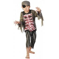 Costume Pirate Zombie Enfant