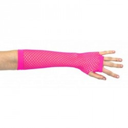 Mitaines Longues Roses Fluo