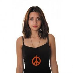 Pendentif Hippie Fluo Orange