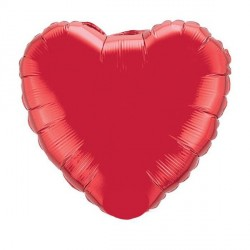 Ballon alu coeur rouge