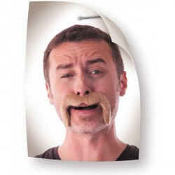 Moustache Watson marron