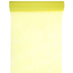 Chemin de table intissé jaune