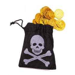 Bourse Pirate + 50 pièces d'or