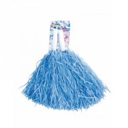 Pompom bleu x2