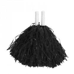 Pompom noir x2