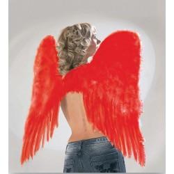 Ailes d'ange plumes rouges 73x73cm