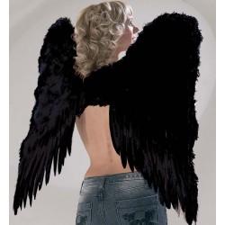 Ailes d'ange plumes noires 73x73cm