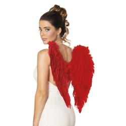 Ailes d'ange plumes rouges 50 x 50 cm