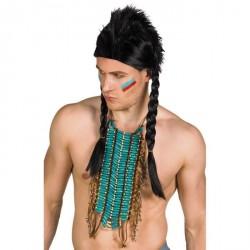 Collier indien bleu adulte