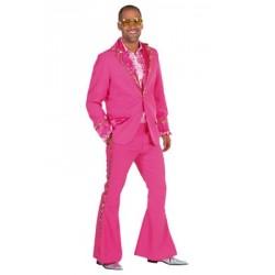 Location costume disco cloclo rose adulte