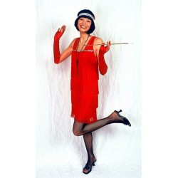 Location costume Charleston Franges rouge