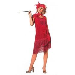 Location costume Charleston Céline rouge