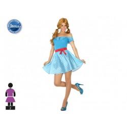 Costume Années 50's bleu Femme